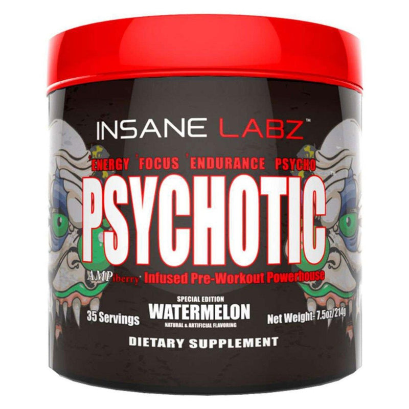 INSANE LABZ Psychotic 35 Servings Sports Performance Recovery Insane Labz Watermelon  (1569133363223)