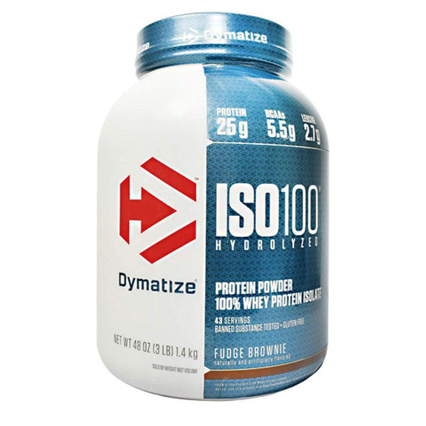 ISO-100 5 lbs Protein Powders Dymatize Fudge Brownie  (1471380324375)