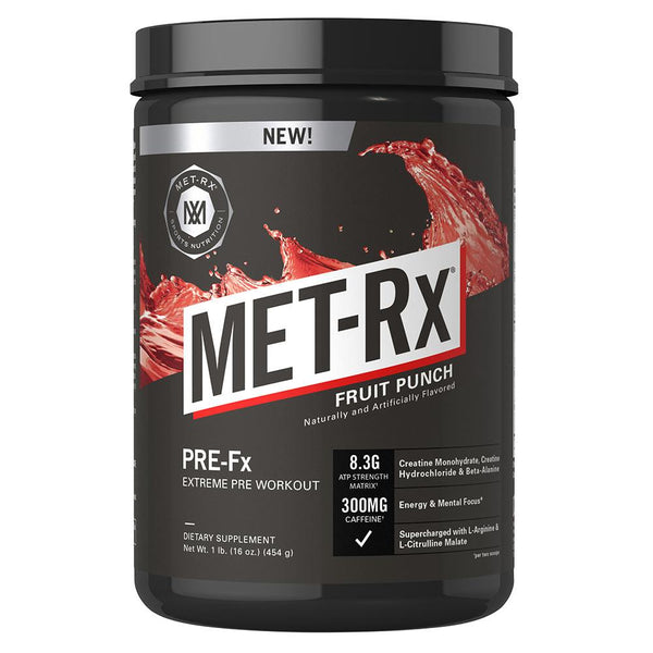 Met-Rx Pre-Fx 1Lb Fruit Punch Sports Performance Recovery Met-Rx  (1568265994263)