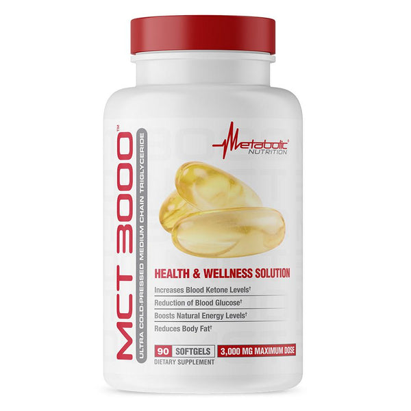 Metabolic Nutrition MCT 3000 90 Softgels Essential Fatty Acids & - Oils Metabolic Nutrition  (3493588008983)