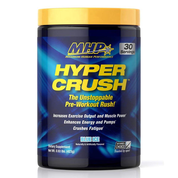 MHP Hyper Crush 30 Servings Sports Performance Recovery MHP Blue Ice  (1586688851991)