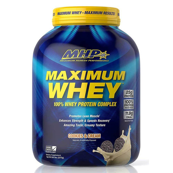 MHP Maximum Whey 5lb Protein Powders MHP Cookies and Cream  (3492051845143)
