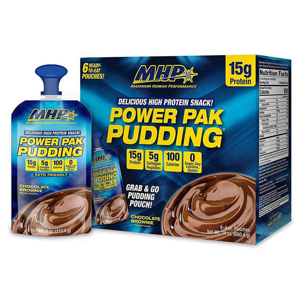 Power Pak Pudding 6/Case Protein Powders MHP Chocolate  (1470716379159)