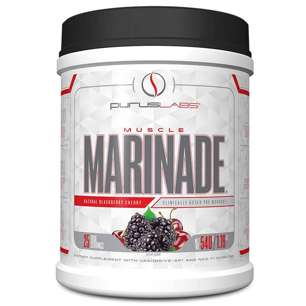 Purus Labs Muscle Marinade Blackberry Cherry 25 Servings 3/19 Expired Supplement Warehouse  (4199643185175)