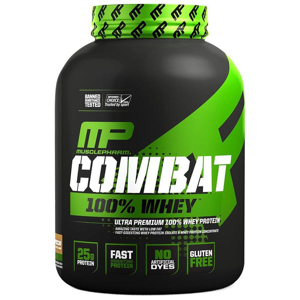 Muscle Pharm Combat 100% Whey 5lb Protein Powders Muscle Pharm Cappuccino  (1551716548631)