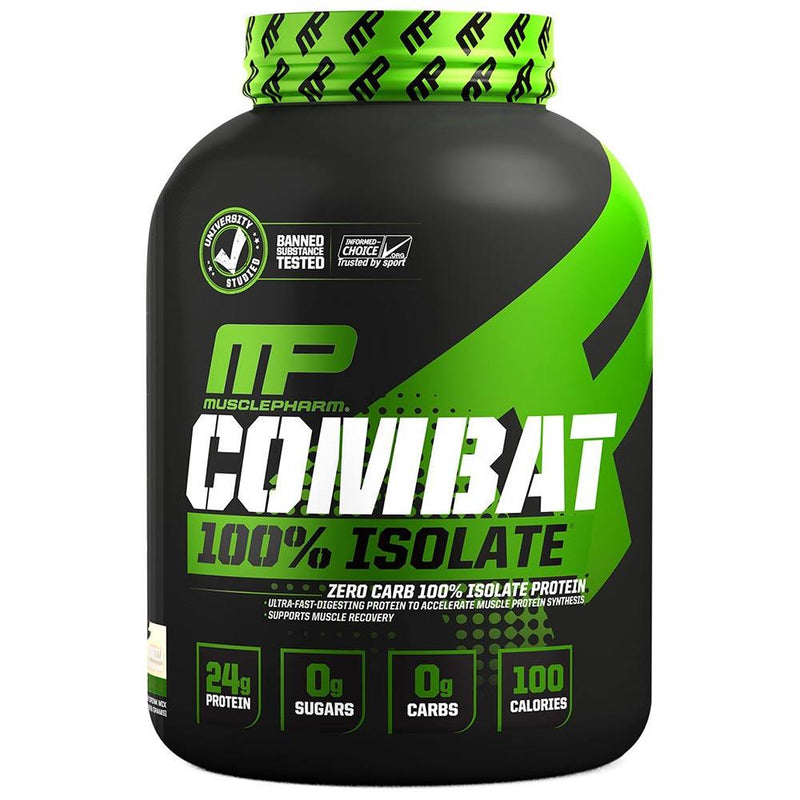 Muscle Pharm Combat 100% Isolate 5lb Protein Powders Muscle Pharm Vanilla Ice Cream  (1551608807447)