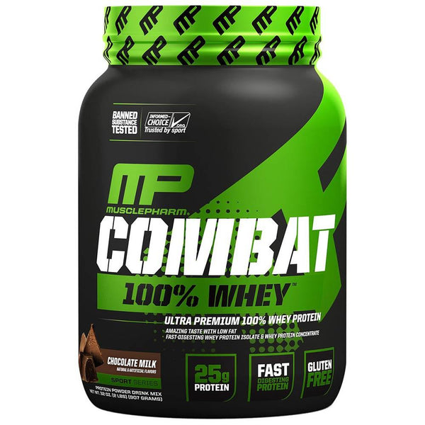 Muscle Pharm Combat 100% Whey 2lb Protein Powders Muscle Pharm Chocolate Milk  (1551723134999)