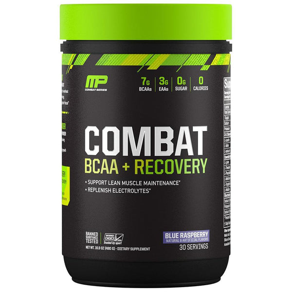 Muscle Pharm Combat BCAA + Recovery 30 Servings Amino Acids Muscle Pharm Blue Raspberry  (1553605623831)