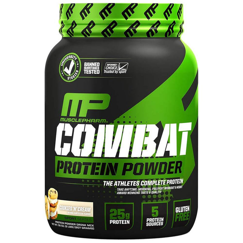 Muscle Pharm Combat Protein Powder 2lb Protein Powders Muscle Pharm Cookies N Cream  (1551607136279)