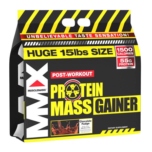 MuscleMaxx Mass Gainer 15 Lbs Weight Gain MuscleMaxx Chocolate Fudge  (1470705270807)