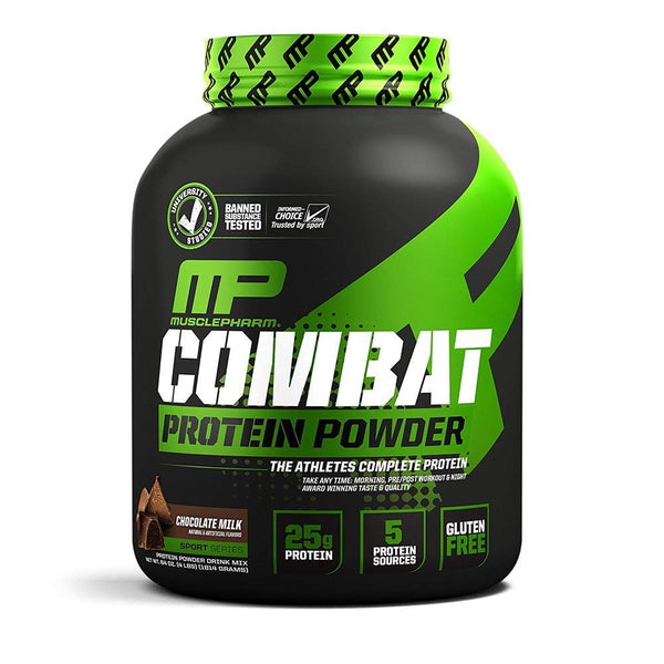 Muscle Pharm Combat Protein Powder 4lb Protein Powders Muscle Pharm Chocolate Milk  (1553674108951)