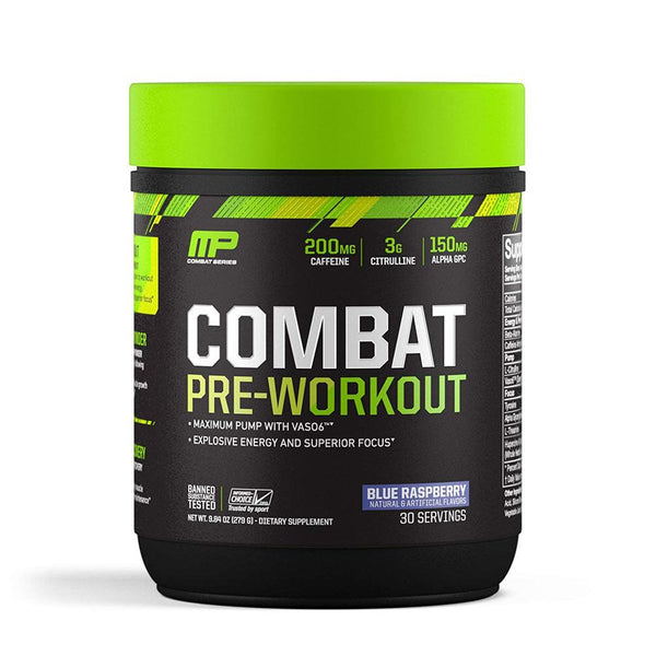 Muscle Pharm Combat Pre-workout 30 Servings Sports Performance Recovery Muscle Pharm Blue Raspberry  (1553613619223)