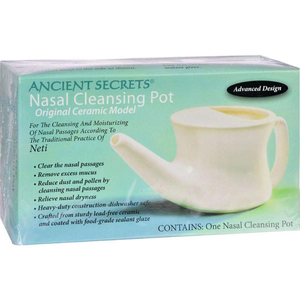 Ancient Secrets Nasal Cleansing Pot 1 Unit Apparel & - Accesories & - Books Ancient Secrets  (1381532368919)