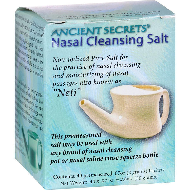 Ancient Secrets Nasal Cleansing Salt 40P Specialty Health Products Ancient Secrets  (572674113569)