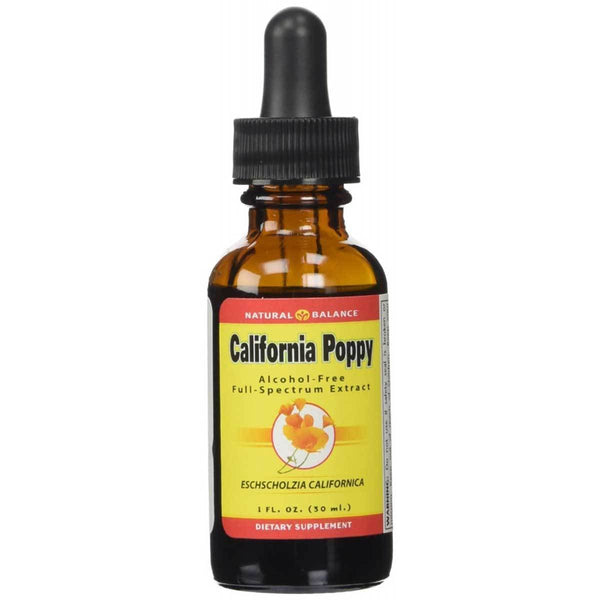 Natural Balance California Poppy 1 Oz Herbs Natural Balance  (572687843361)