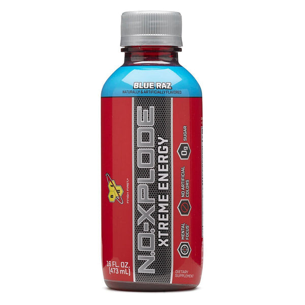BSN NO-Xplode RTD 12/Case Energy & Sports Drinks BSN Blue Raz  (10996449987)
