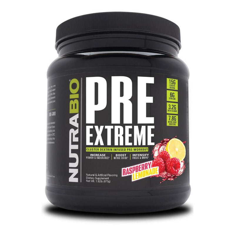 NutraBio Pre Extreme 20/Servings Pre-Workouts NutraBio Raspberry Lemonade  (4352173539351)