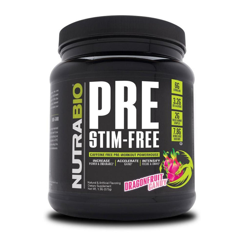 NutraBio Pre Stim Free 20/Servings Nitric Oxide NutraBio Dragonfruit Candy  (4352173506583)