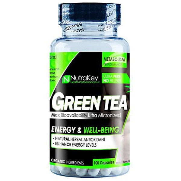 NutraKey Green Tea Extract 350mg 100vc Fat Burner Nutrakey  (4418087026711)