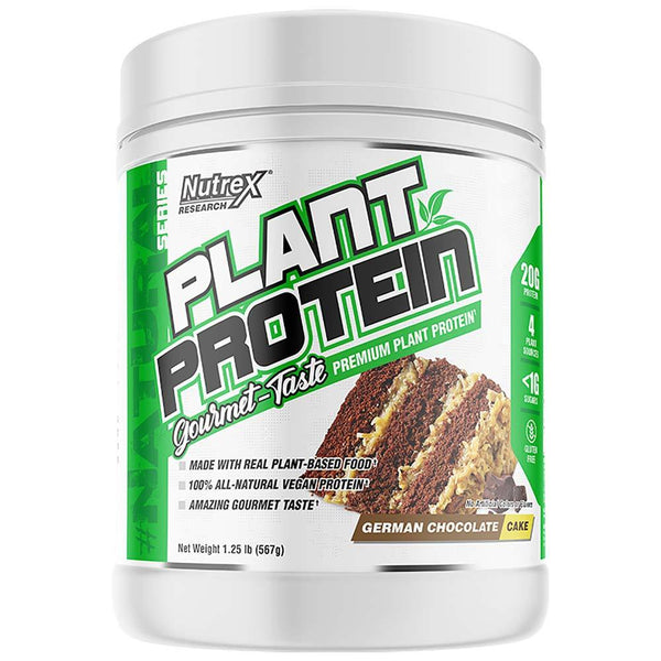 Nutrex Plant Protein 18 Srv Protein Powders Nutrex Research German Chocolate Cake  (4294370328599)