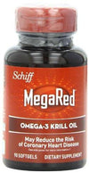 Mega Red Omega-3 Krill Oil 300 mg Vitamins & Minerals Schiff