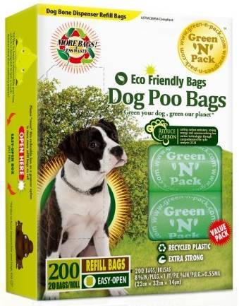 Eco Friendly Dog Poo Bags Refill Vitamins & Minerals Green N Pack  (10031000771)
