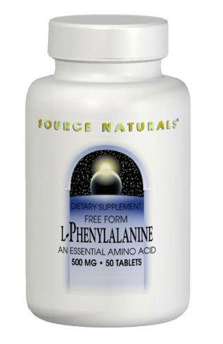 L-Phenylalanine 500 mg Supplements Source Naturals  (10031784899)