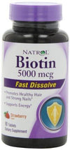 Biotin 5000Mcg Supplements Natrol