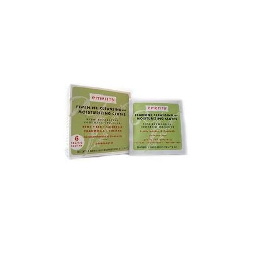 Feminine Cleansing & Moisturizing Cloths Travel Size Supplements Emerita  (10030849155)