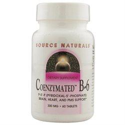 Coenzymated B-6 Sublingual 300 mg Supplements Source Naturals  (10031796291)