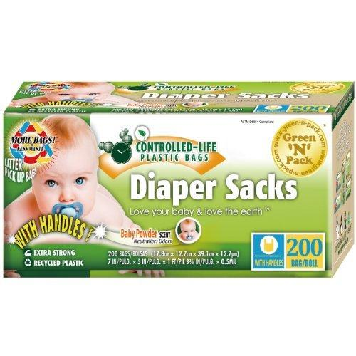 Eco Friendly Disposable Diaper Sacks Vitamins & Minerals Green N Pack  (10031000067)