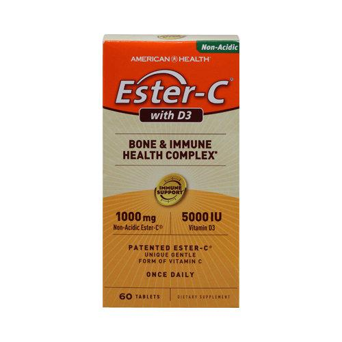 Ester-C with D3 Supplements American Health  (10030532227)