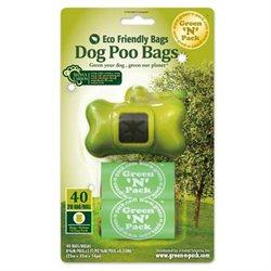 Eco Friendly Dog Poo Bags & Dispenser Vitamins & Minerals Green N Pack  (10031000835)