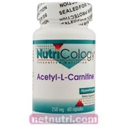Acetyl L-Carnitine 250 mg Vitamins & Minerals Nutricology  (10031558339)