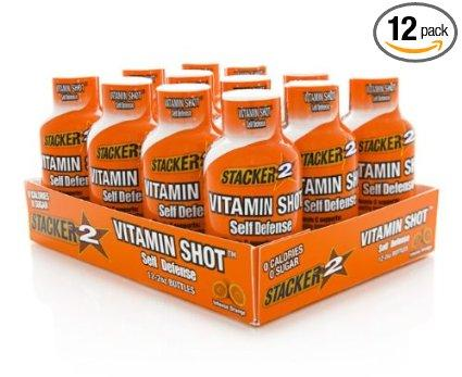 Stacker 2 Vitamin Shot Self Defense Energy & Sports Drinks NVE  (10031574595)