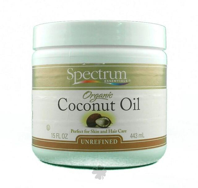 Organic Coconut Oil for Hair & Body Supplements Spectrum Organics (Spectrum Essentials)  (10031807171)