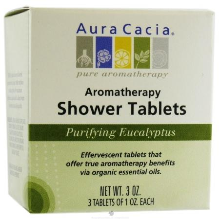 Purifying Eucalyptus Aromatherapy Shower Tablets Health & Wellness Aura Cacia  (10030561923)