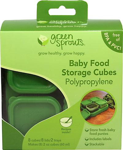 Polypropylene Baby Food Storage Cubes Supplements Green Sprouts  (10031004035)