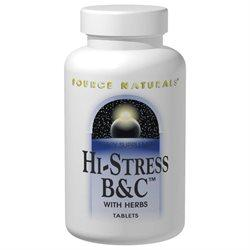 Hi-Stress B&C w/ herbs Supplements Source Naturals  (10031782531)