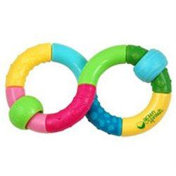 Infinity Teether Rattle Supplements Green Sprouts  (10031003075)