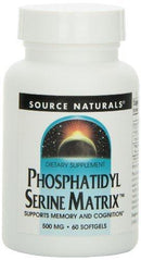 Phosphatidyl Serine Matrix 500mg softgel Supplements Source Naturals  (10031789955)