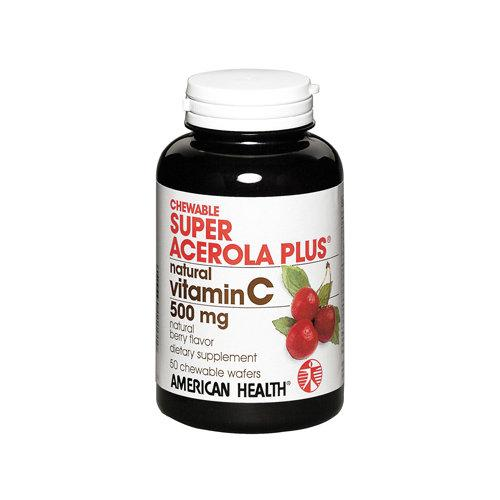 Super Acerola Plus Chewables - 500mg Supplements American Health  (10030529155)