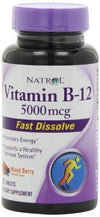 B-12 - 5000mcg Fast Dissolve Supplements Natrol