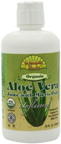 Aloe Vera Juice, Certified Organic, with Micro Pulp