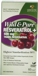 Wild & Pure Resveratrol 500g Health & Wellness/Remedies/Anti-Aging Genceutic Naturals  (10030974211)