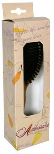 Ambassador Wood Small Oval Hairbrush Personal Care Fuchs  (10030944003)