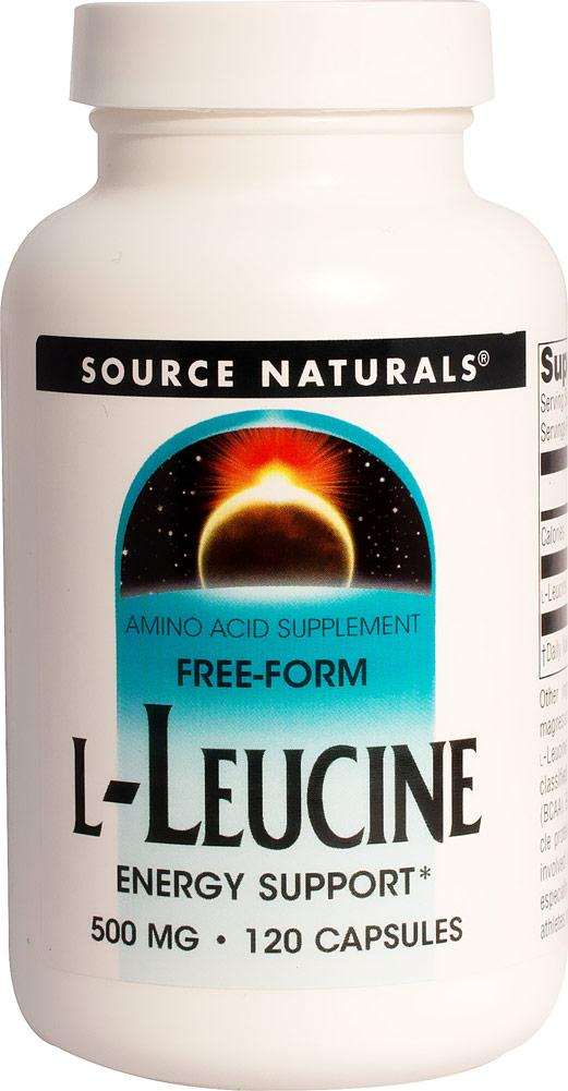 L-Leucine 500 mg Supplements Source Naturals  (10031795843)