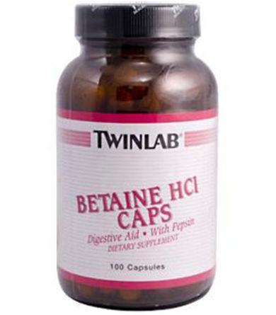 Betaine HCL Health & Wellness/Nutritional Supplements/Betaine Hydrochloric Acid Twinlab  (10031906819)