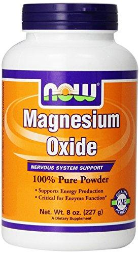 Magnesium Oxide Powder Supplements Now Foods