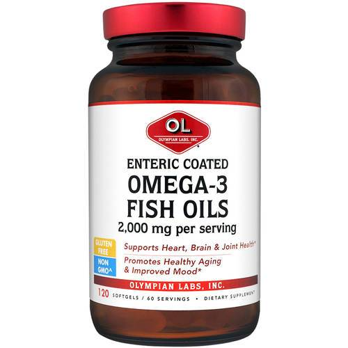Omega 3 Fish Oils, Enteric Coated Health & Wellness/Healthy Fats/Fish Oil Olympian Labs  (10031585283)